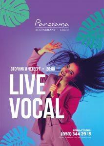Panorama Live vocal
