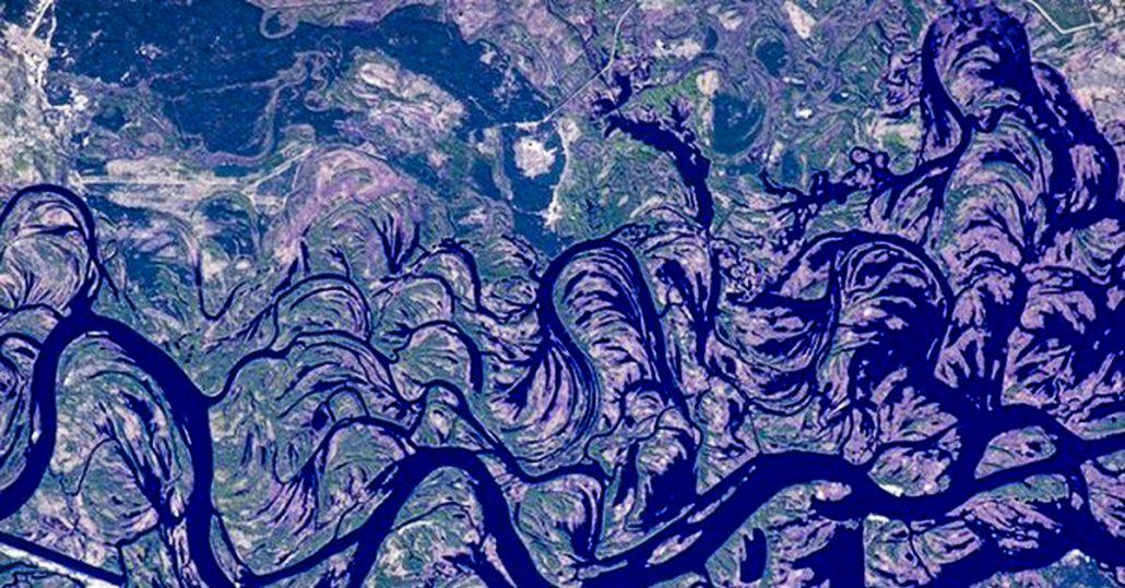 Снимок Днепра из космоса