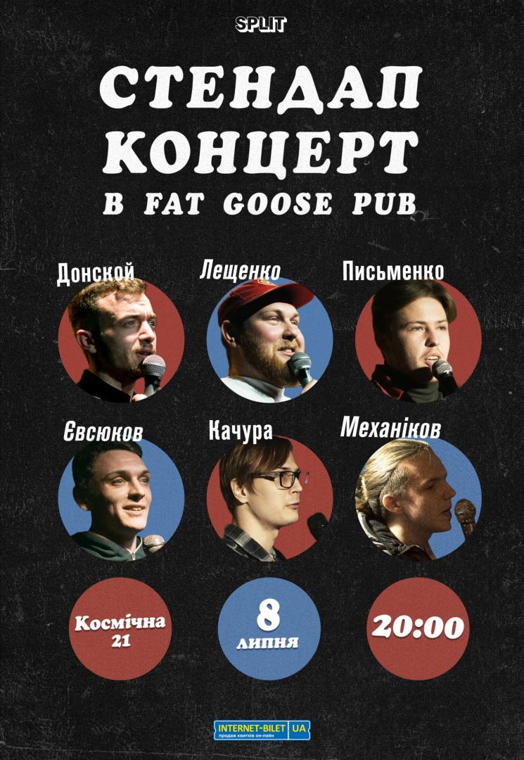 Стендап-концерт в Fat Goose Pub